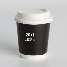 gobelet carton 20cl avec couvercle imprim 39 com. Black Bedroom Furniture Sets. Home Design Ideas