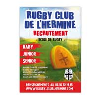Flyer Rugby Clib de l'Hermine