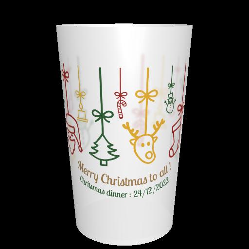 Gobelet Noël en plastique Décorations de Noël