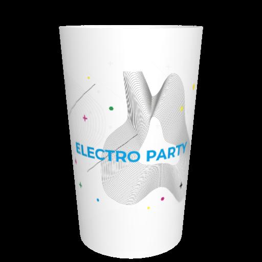 Verre en plastique fêtes entre amis Soirée électro