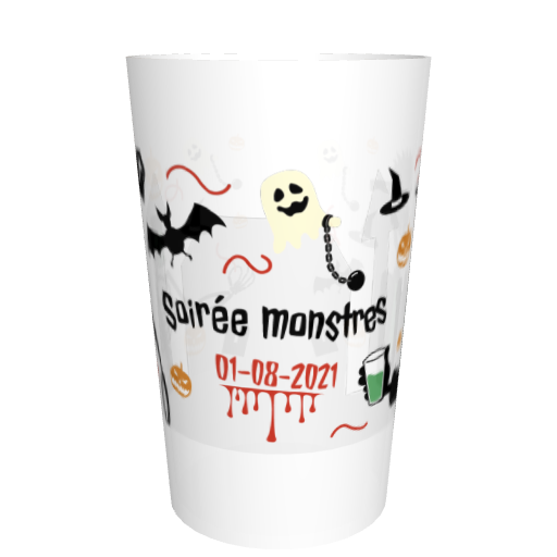 Ecocup fêtes entre amis personnalisable Halloween soirée monstres