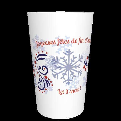 Ecocup Noël personnalisable Flocons