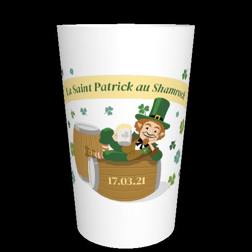 Gobelet imprimé St Patrick