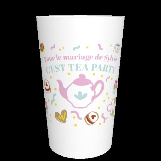 Gobelet français enterrement de vie de jeune fille EVJF Tea Party