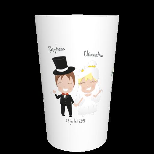 Eco-gobelet mariage réutilisable Mariage heureux