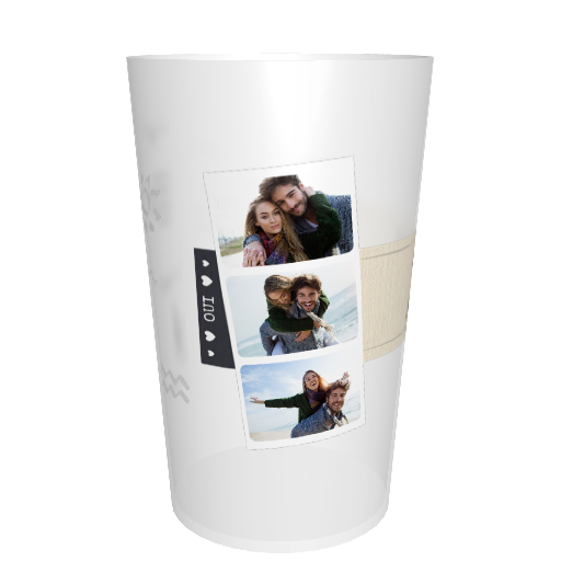 Ecocup mariage personnalisable Photo courrier