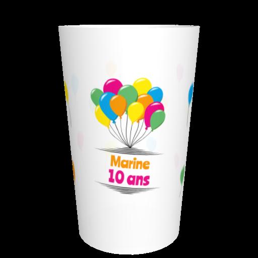 Eco-gobelet anniversaire réutilisable Ballons