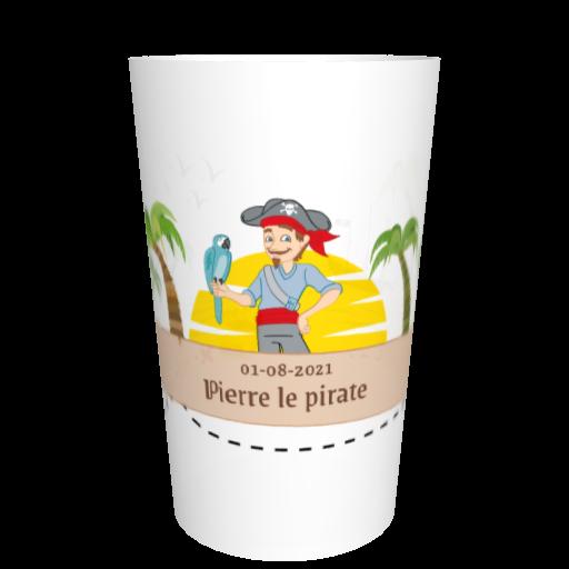 Verre en plastique anniversaire Pirate