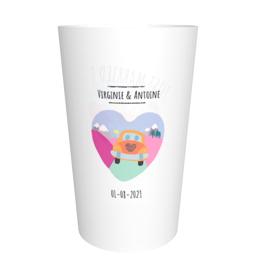 Ecocup mariage personnalisable Just married