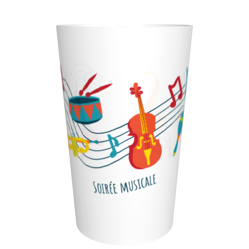 Gobelet fêtes entre amis en plastique Musique