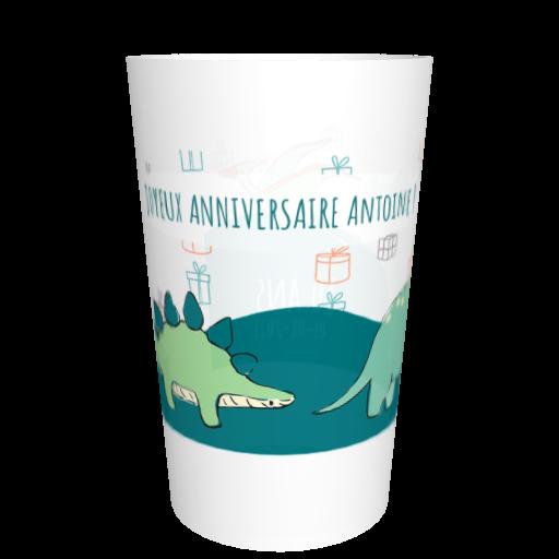 Gobelet français anniversaire Dinosaures