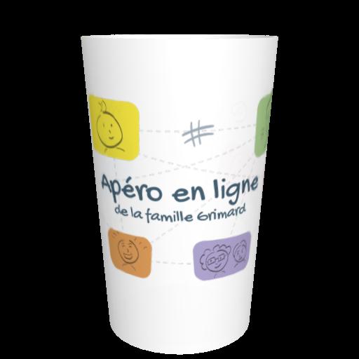 Gobelet français fêtes entre amis Apéro en ligne