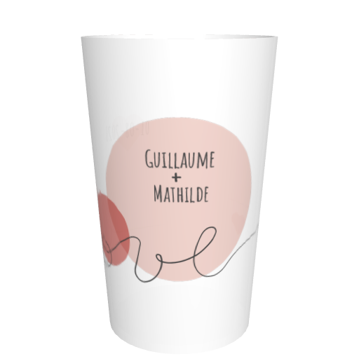 Ecocup mariage personnalisable Love