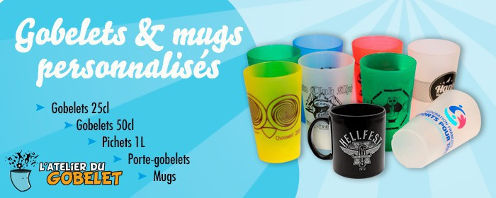 Gobelets et mugs personalisés