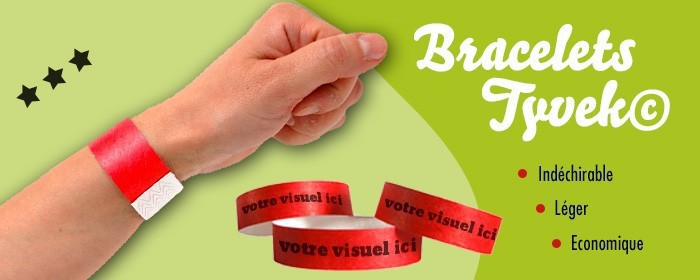 Bracelets Tyvek